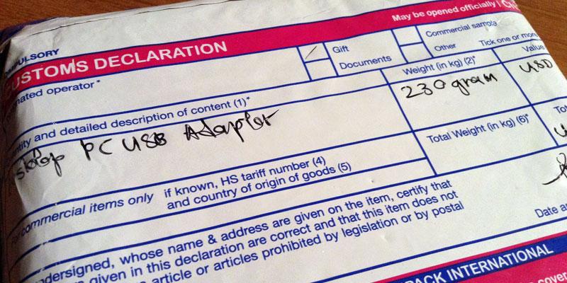 AWUS036AC: FlexiPack Customs Declaration