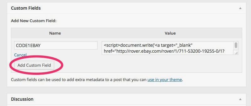 Adding New Custom Javascript Code Field