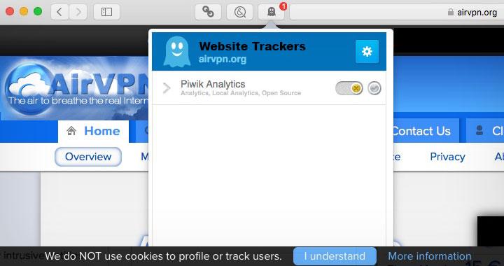 AirVPN Trackers