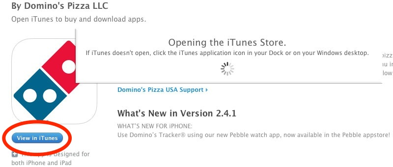 Opening the iTunes Store
