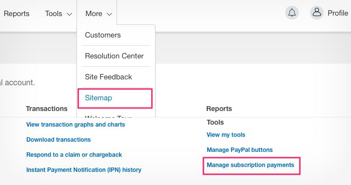 PayPal Manage Subscription Payments
