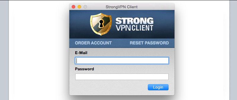 Strong VPN Client Login