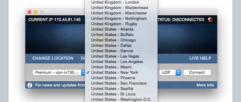VPN Server Selection: United States - United Kingdom
