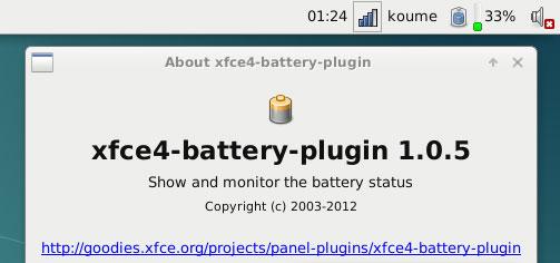 Xfce4 Battery Status Asus X205TA