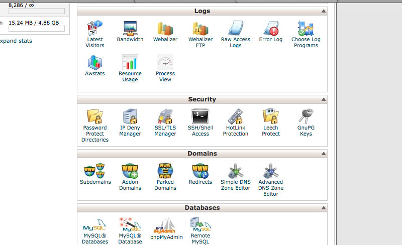cPanel Process View