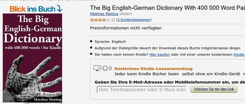 Amazon de english