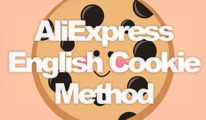 AliExpress in English Cookie Method
