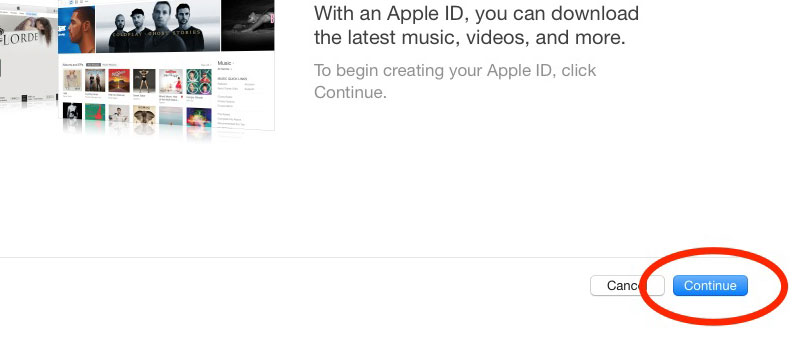 Apple ID Continue