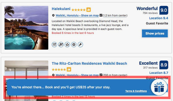 Booking.com Get US$25 After Your Stay