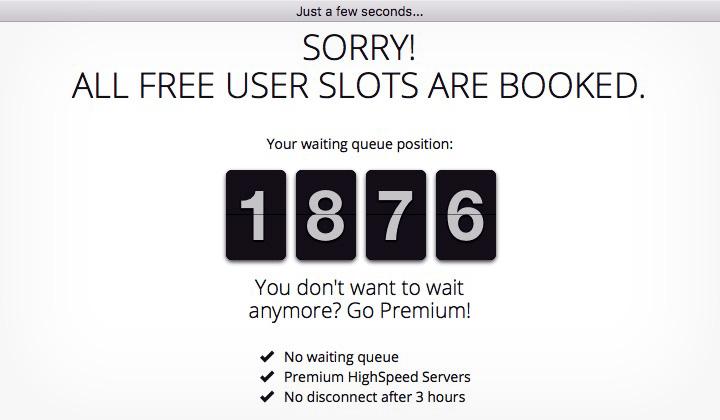 CyberGhost Free User Slots