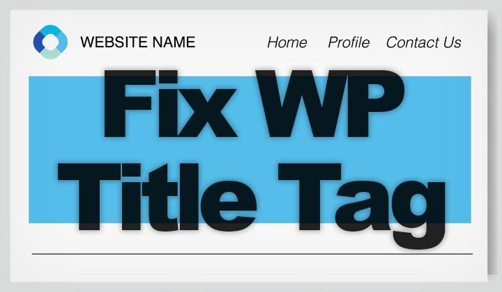 Fix WP Title Tag