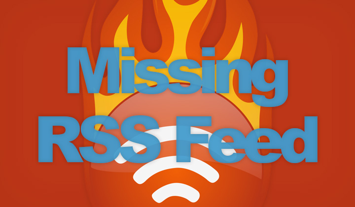 Missing RSS Feed on WordPress