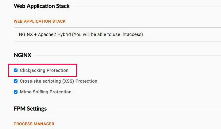 RunCloud Clickjacking Protection