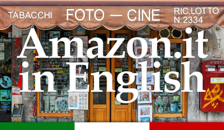 Shopping Amazon.it in English