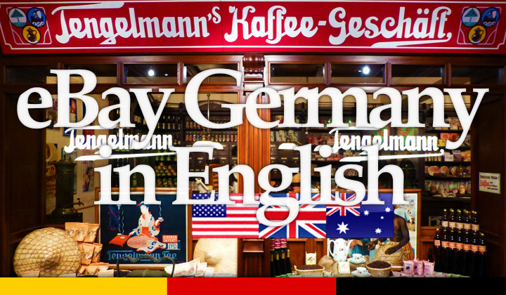Shopping eBay DE Germany in English