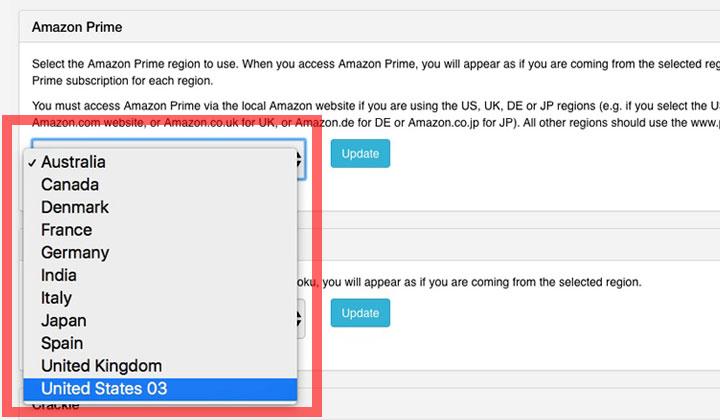 Smart DNS Proxy Amazon Prime Region