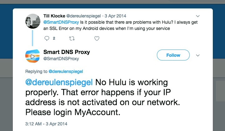 Smart DNS Proxy Hulu US Video Streaming