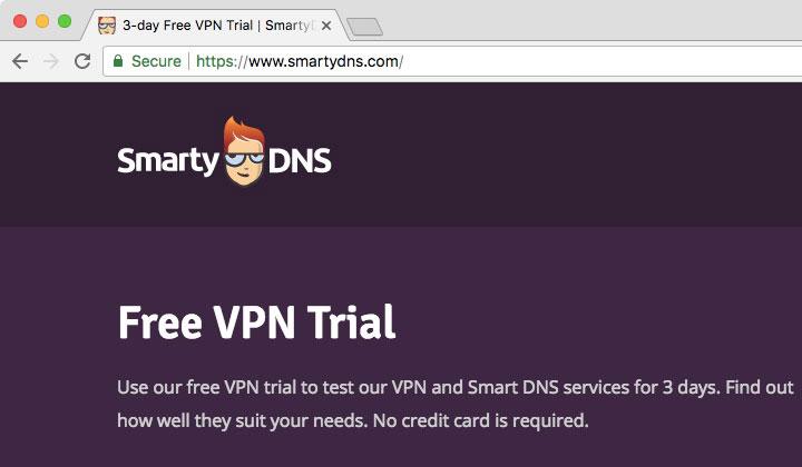 SmartyDNS Free VPN Trial