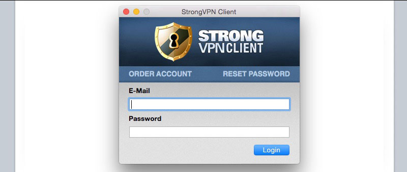 Strong VPN Client Login
