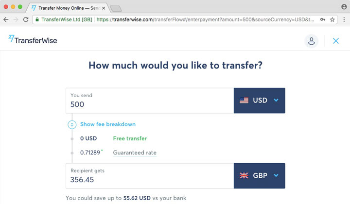 TransferWise How Much Transfer