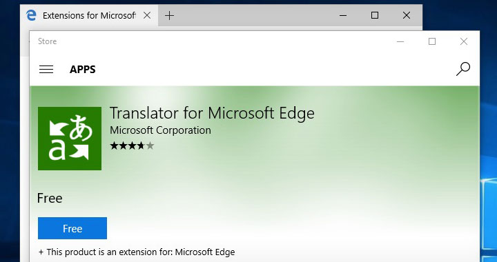 Translator for Microsoft Edge App