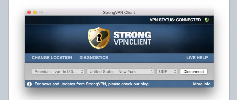 VPN Server Connected: US New York