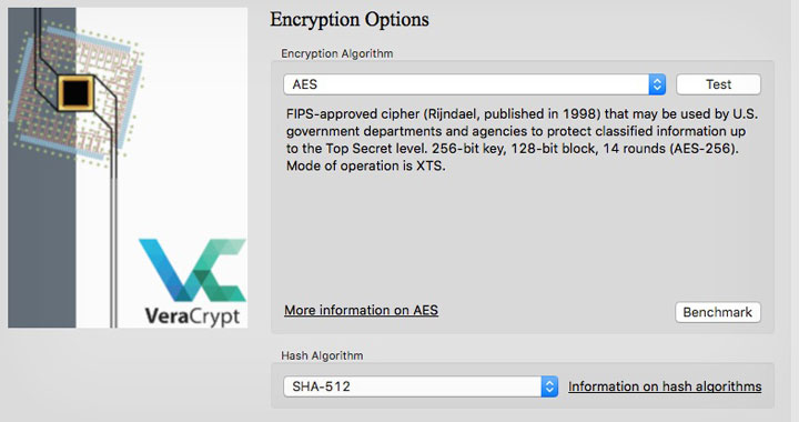 VeraCrypt Encryption Options