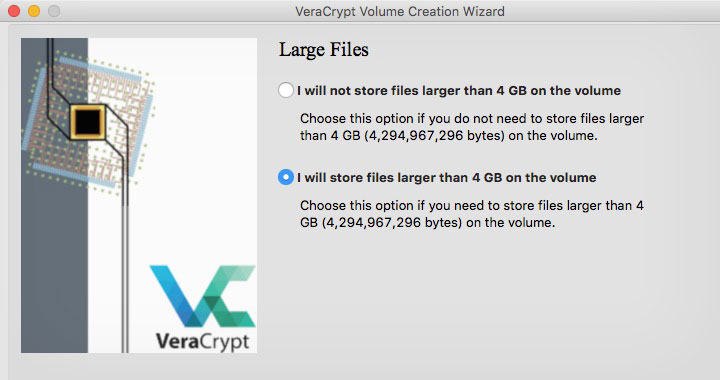 VeraCrypt Large Files Support