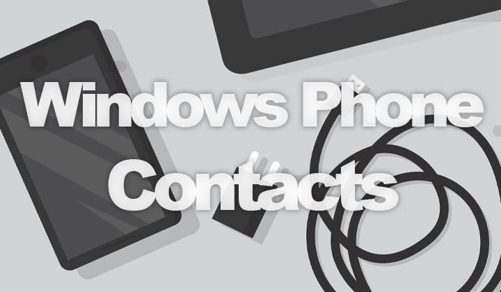 Windows Phone Contacts Backup