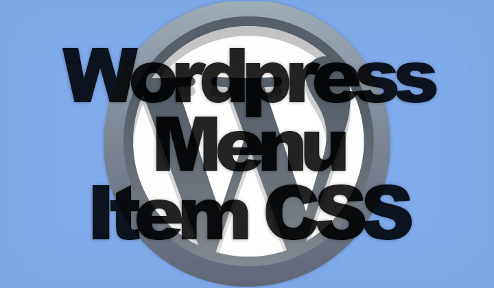 WordPress Menu Item CSS