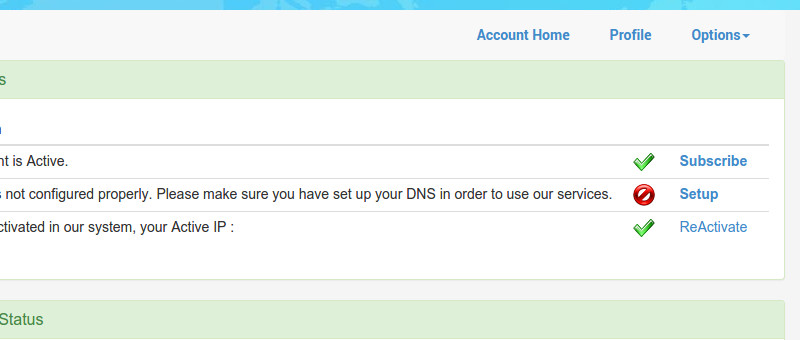 Smart DNS Proxy My Account Screen